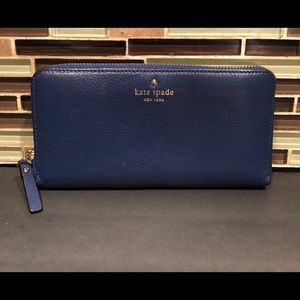 Kate Spade Blue Leather Wallet
